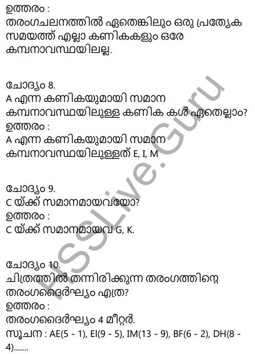 Kerala Syllabus 9th Standard Physics Solutions Chapter 7 Wave Motion in Malayalam 10