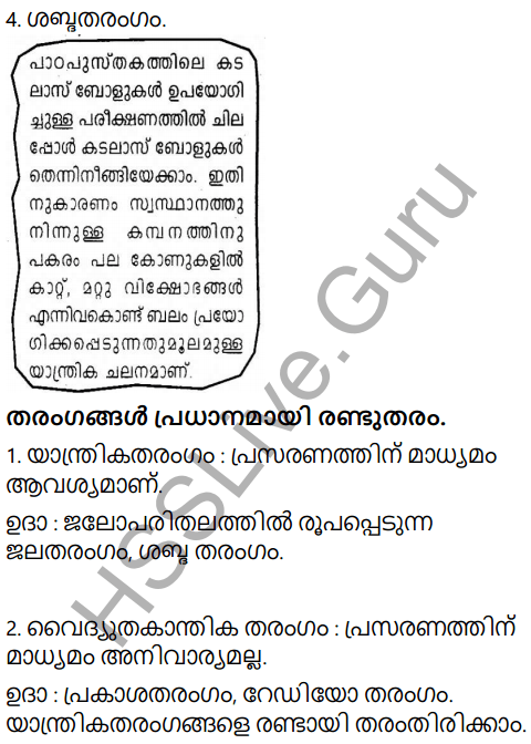 Kerala Syllabus 9th Standard Physics Solutions Chapter 7 Wave Motion in Malayalam 3