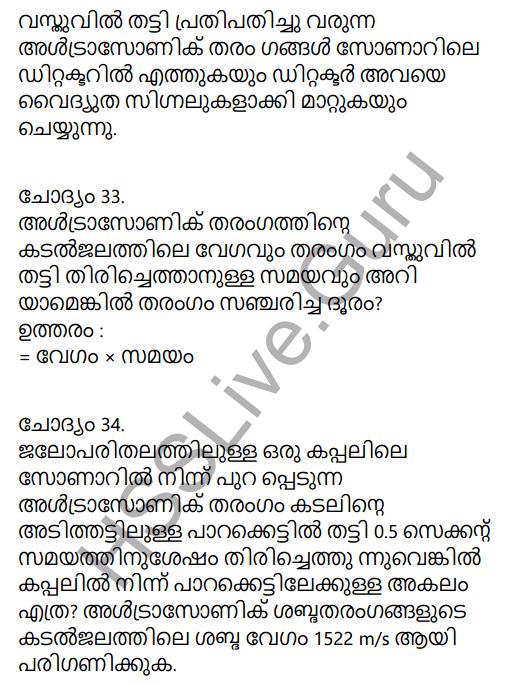 Kerala Syllabus 9th Standard Physics Solutions Chapter 7 Wave Motion in Malayalam 33