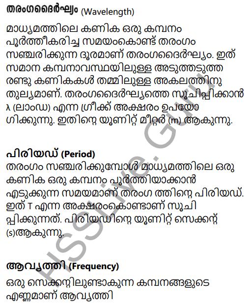 Kerala Syllabus 9th Standard Physics Solutions Chapter 7 Wave Motion in Malayalam 7