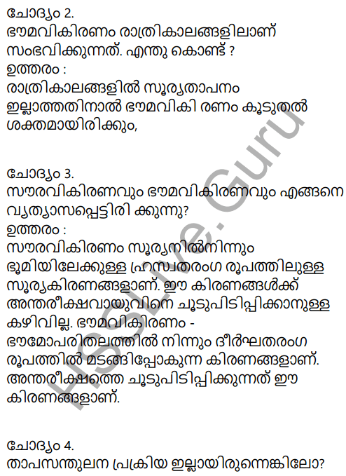Kerala Syllabus 9th Standard Social Science Solutions Chapter 1 Sun The Ultimate Source in Malayalam 47