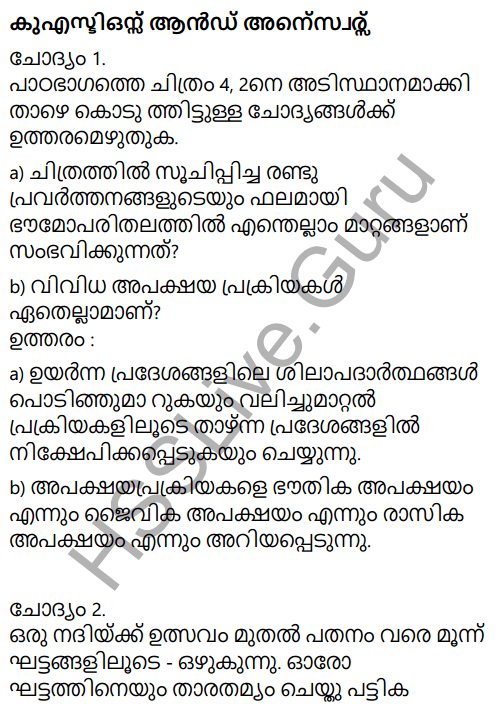 Kerala Syllabus 9th Standard Social Science Solutions Chapter 4 By the Hands of the Nature in Malayalam 2