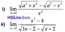 Plus One Maths Limits and Derivatives Three Mark Questions and Answers 1