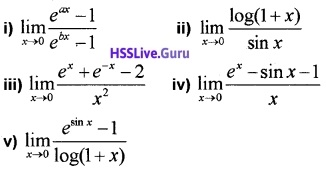Plus One Maths Limits and Derivatives Three Mark Questions and Answers 19