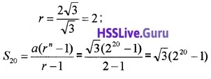Plus One Maths Sequences and Series Three Mark Questions and Answers 20