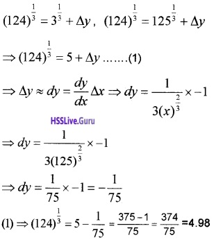 Plus Two Maths Application of Derivatives 3 Mark Questions and Answers 36