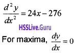 Plus Two Maths Application of Derivatives 3 Mark Questions and Answers 87