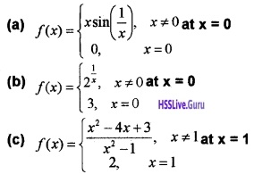 Plus Two Maths Continuity and Differentiability 4 Mark Questions and Answers 62