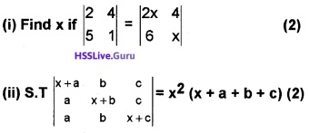 Plus Two Maths Determinants 3 Mark Questions and Answers 10