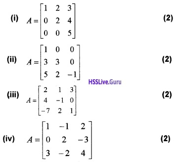 Plus Two Maths Determinants 4 Mark Questions and Answers 31