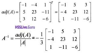 Plus Two Maths Determinants 4 Mark Questions and Answers 34