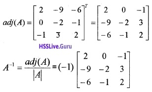 Plus Two Maths Determinants 4 Mark Questions and Answers 35