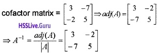 Plus Two Maths Determinants 4 Mark Questions and Answers 36