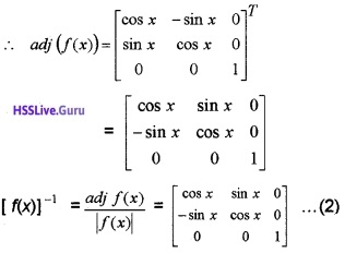 Plus Two Maths Determinants 4 Mark Questions and Answers 52