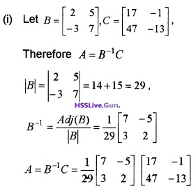 Plus Two Maths Determinants 4 Mark Questions and Answers 67