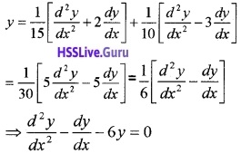 Plus Two Maths Differential Equations 3 Mark Questions and Answers 12