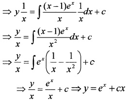 Plus Two Maths Differential Equations 3 Mark Questions and Answers 22