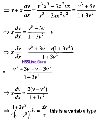 Plus Two Maths Differential Equations 3 Mark Questions and Answers 30
