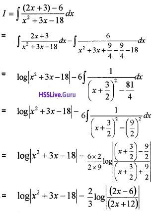 Plus Two Maths Integrals 3 Mark Questions and Answers 65