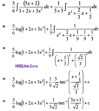 Plus Two Maths Integrals 3 Mark Questions and Answers 68