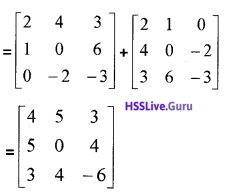 Plus Two Maths Matrices 3 Mark Questions and Answers 24