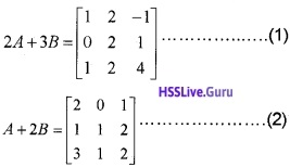 Plus Two Maths Matrices 3 Mark Questions and Answers 26