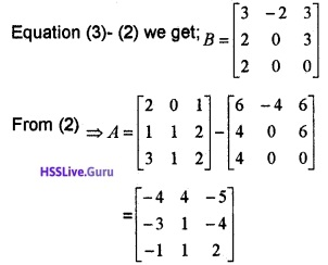 Plus Two Maths Matrices 3 Mark Questions and Answers 28