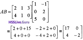 Plus Two Maths Matrices 3 Mark Questions and Answers 37
