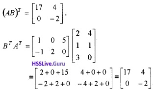 Plus Two Maths Matrices 3 Mark Questions and Answers 38