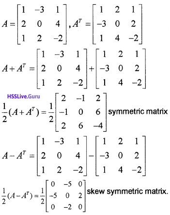 Plus Two Maths Matrices 3 Mark Questions and Answers 39