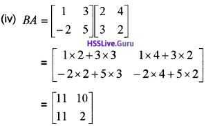 Plus Two Maths Matrices 3 Mark Questions and Answers 46