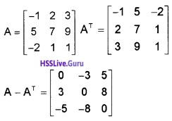 Plus Two Maths Matrices 3 Mark Questions and Answers 7