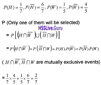 Plus Two Maths Probability 4 Mark Questions and Answers 37