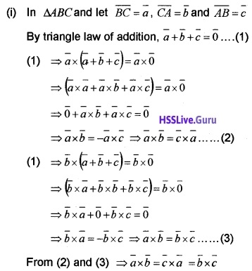 Plus Two Maths Vector Algebra 3 Mark Questions and Answers 24