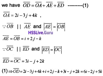 Plus Two Maths Vector Algebra 3 Mark Questions and Answers 44