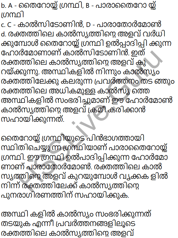 Kerala Syllabus 10th Standard Biology Solutions Chapter 3 Chemical Messages for Homeostasis in Malayalam 40