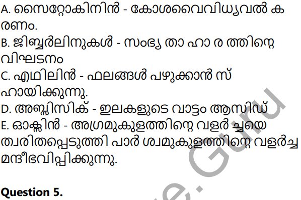 Kerala Syllabus 10th Standard Biology Solutions Chapter 3 Chemical Messages for Homeostasis in Malayalam 43