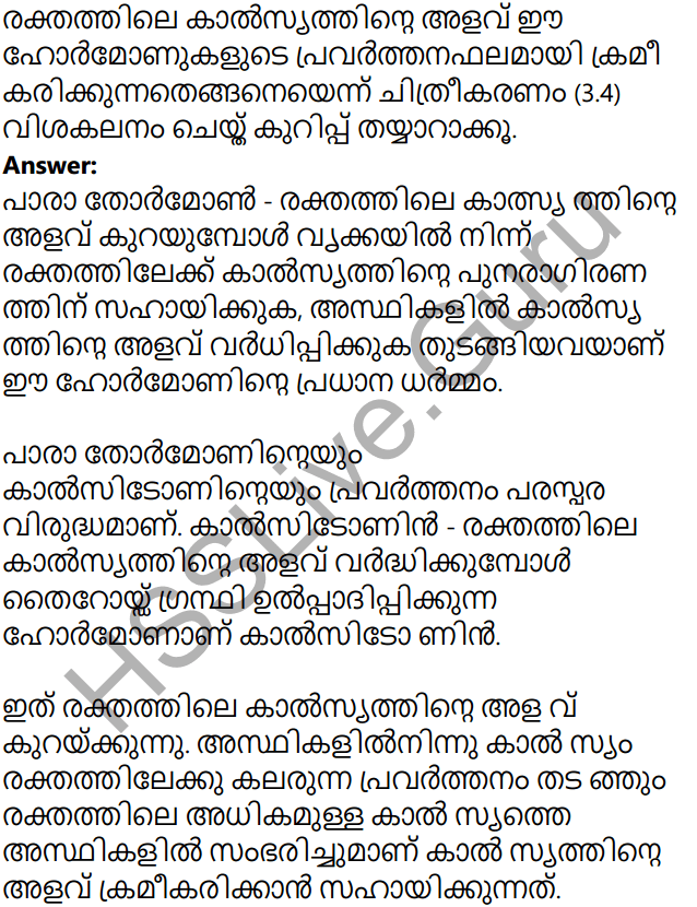 Kerala Syllabus 10th Standard Biology Solutions Chapter 3 Chemical Messages for Homeostasis in Malayalam 7
