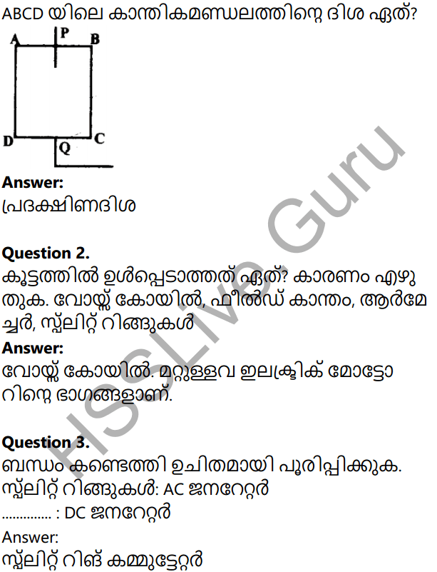 Kerala Syllabus 10th Standard Physics Solutions Chapter 2 Magnetic Effect of Electric Current in Malayalam 26