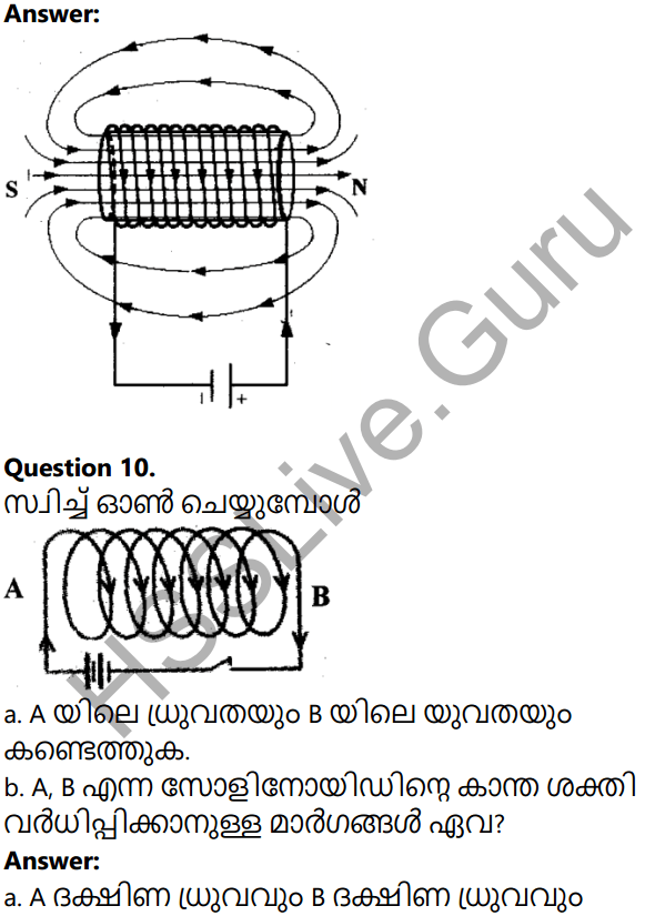 Kerala Syllabus 10th Standard Physics Solutions Chapter 2 Magnetic Effect of Electric Current in Malayalam 29