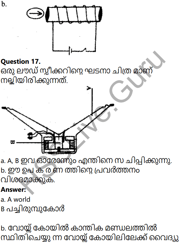 Kerala Syllabus 10th Standard Physics Solutions Chapter 2 Magnetic Effect of Electric Current in Malayalam 36