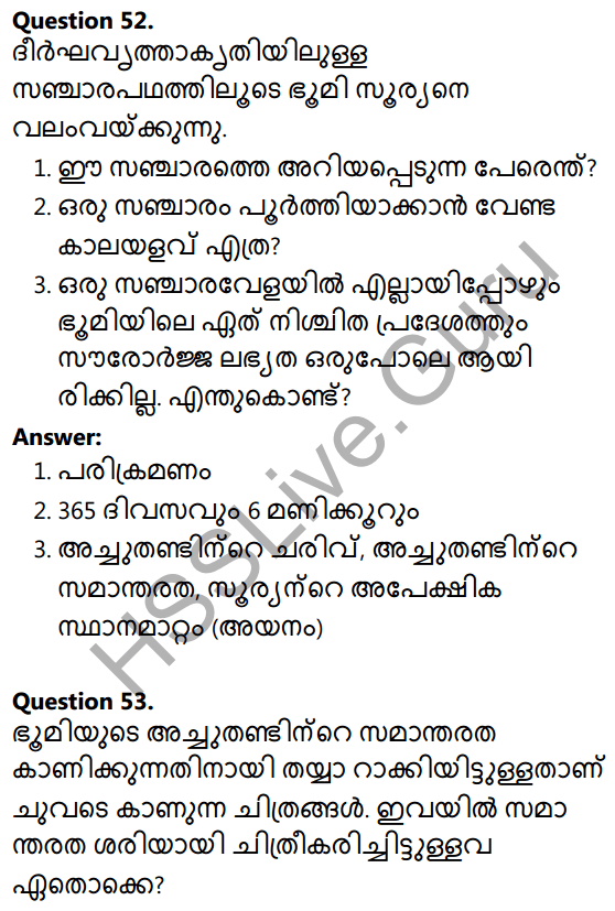 Kerala Syllabus 10th Standard Social Science Solutions Chapter 1 Seasons and Time in Malayalam 35