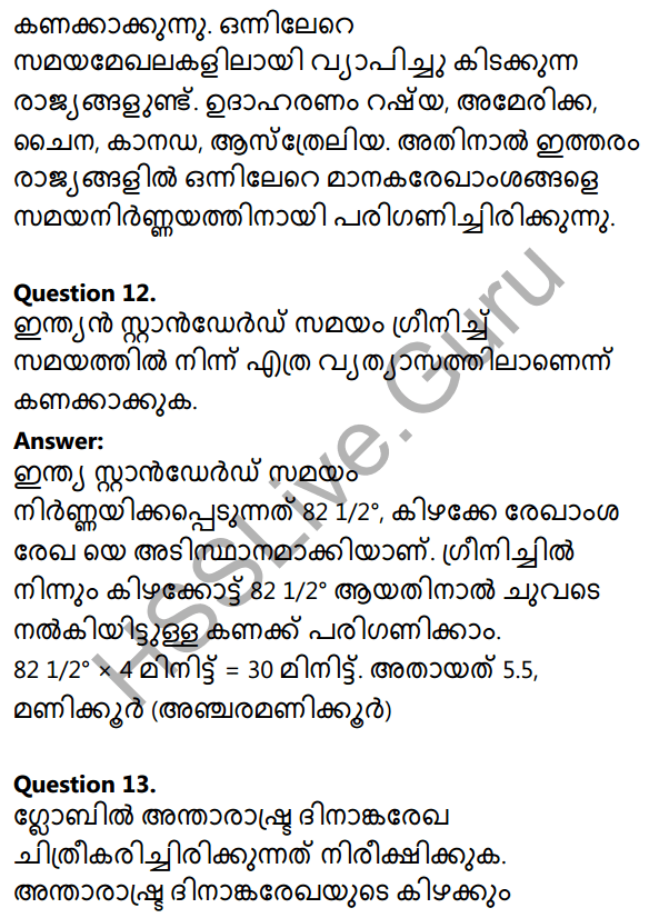 Kerala Syllabus 10th Standard Social Science Solutions Chapter 1 Seasons and Time in Malayalam 6