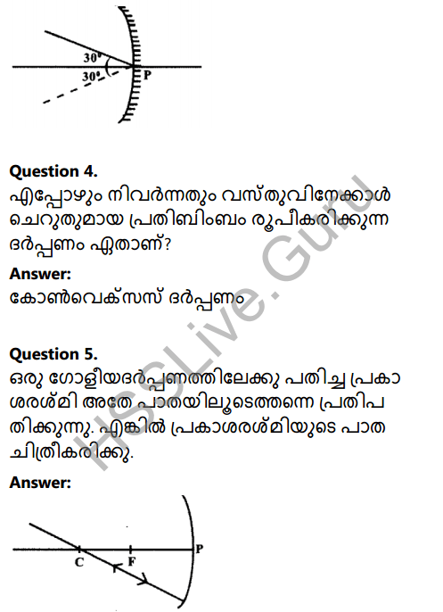 Kerala Syllabus 8th Standard Basic Science Solutions Chapter 18 Reflection of Light in Spherical Mirrors in Malayalam 3