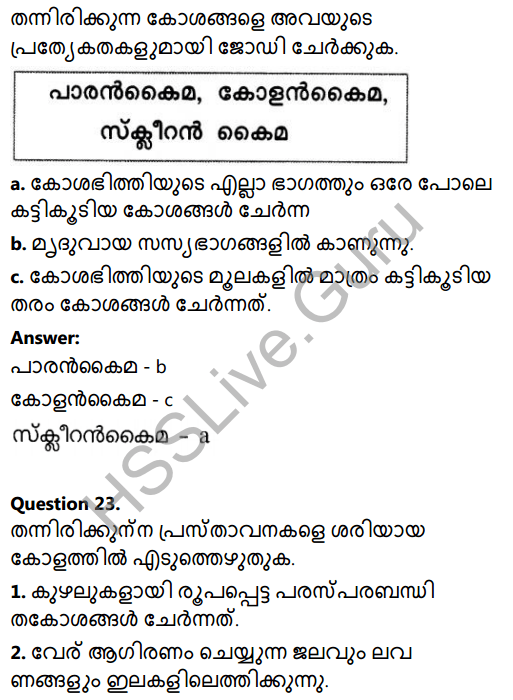Kerala Syllabus 8th Standard Basic Science Solutions Chapter 2 Cell Clusters in Malayalam 29