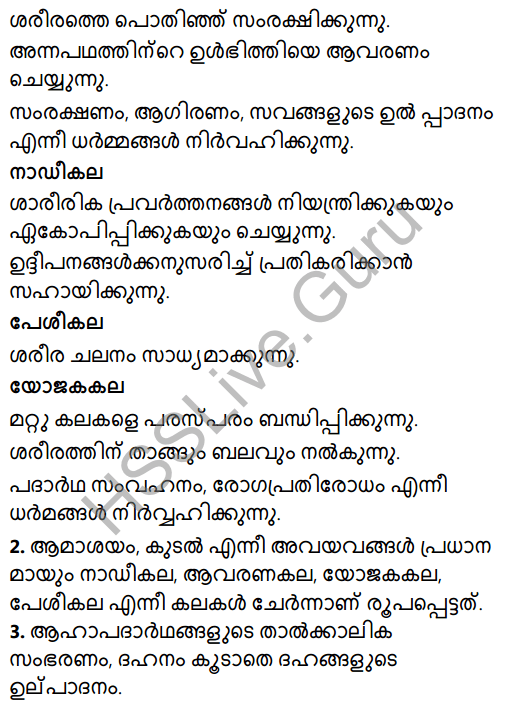 Kerala Syllabus 8th Standard Basic Science Solutions Chapter 2 Cell Clusters in Malayalam 6