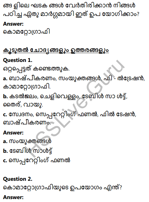 Kerala Syllabus 8th Standard Basic Science Solutions Chapter 4 Properties of Matter in Malayalam 8
