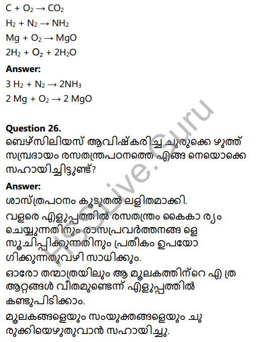 Kerala Syllabus 8th Standard Basic Science Solutions Chapter 5 Basic Constituents of Matter in Malayalam 22