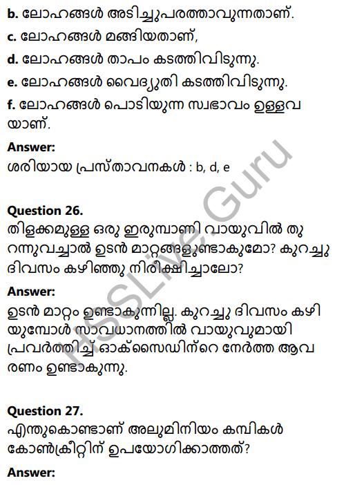 Kerala Syllabus 8th Standard Basic Science Solutions Chapter 7 Metals in Malayalam 18