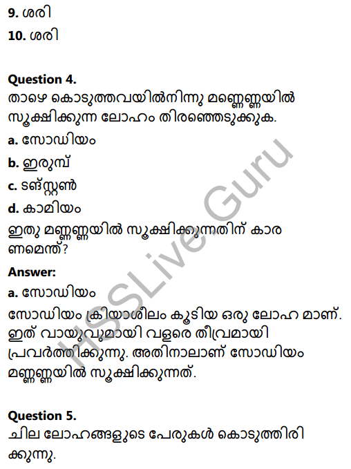 Kerala Syllabus 8th Standard Basic Science Solutions Chapter 7 Metals in Malayalam 25